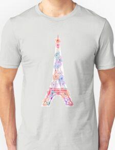 Flower Eiffel Tower Paris Unisex T-Shirt
