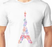 Flower Eiffel Tower Paris Unisex T-Shirt