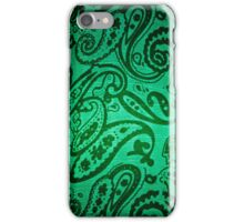 Whales & Waves (Green) iPhone Case/Skin
