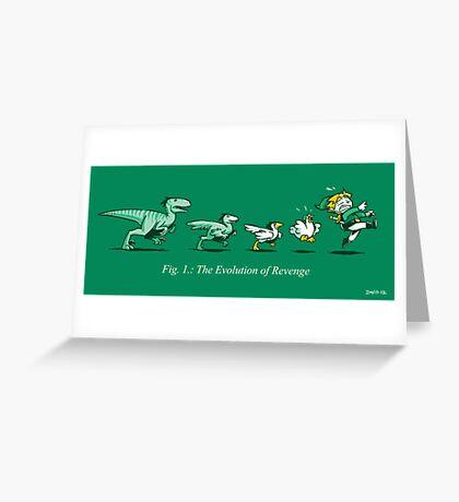 The Evolution of Revenge (Print Version) Greeting Card