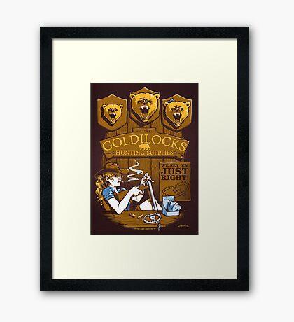 Goldilocks Hunting Supplies (Print Version) Framed Print