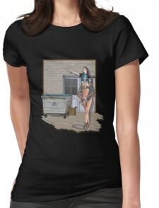 going to town Womens Fitted T-Shirt
