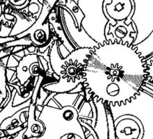 Clock Gear Black Sticker