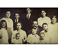 The Garlick Family circa 1918 at Woodbury, Litchfield, CT Photographic Print