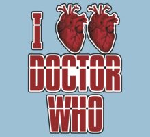 I Heart Heart Doctor Who (v3) Kids Clothes