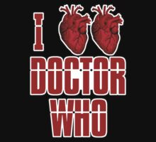 I Heart Heart Doctor Who (v3) Kids Tee