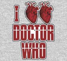 I Heart Heart Doctor Who (v3) One Piece - Short Sleeve