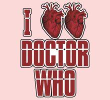 I Heart Heart Doctor Who (v3) One Piece - Long Sleeve