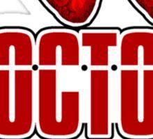 I Heart Heart Doctor Who (v3) Sticker