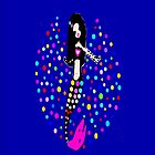 Gorgeous Sparkling Goth Mermaid iPhone &amp; iPod Cases by Fantabulous