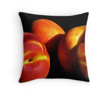 Peach Persuasion Throw Pillow