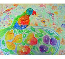Parrot and Pears Photographic Print