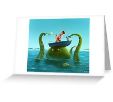 Double Fishing Greeting Card