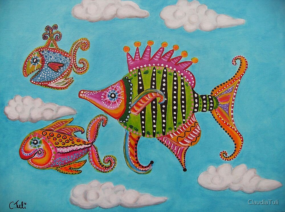 Tropical fishes in the sky by ClaudiaTuli