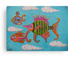 Tropical fishes in the sky Canvas Print