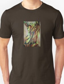 Contemporary Nude Abstract In Brown T-Shirt