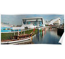 River Lea Panorama Poster