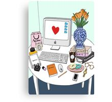 New Yorker's Desk Canvas Print