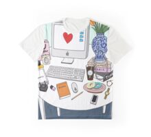 New Yorker's Desk Graphic T-Shirt