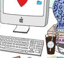 New Yorker's Desk Sticker