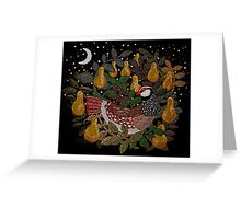 Partridge in a Pear Tree Embroidery Greeting Card