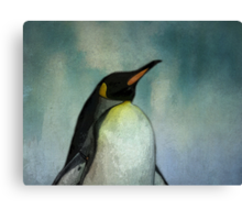 Heck no, my feet aren't happy! (Penguine) Canvas Print