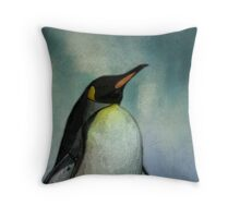 Heck no, my feet aren't happy! (Penguine) Throw Pillow