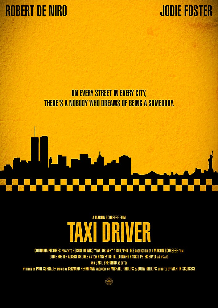 """Movie Poster - """"TAXI DRIVER"""" (Clean) by Mark Hyland"""