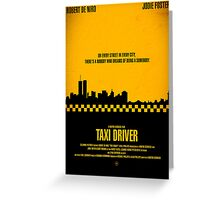 "Movie Poster - ""TAXI DRIVER"" (Clean) Greeting Card"