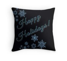Snowflake Holiday... Throw Pillow