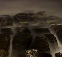 Ghostly rocks by the sea by miroslava