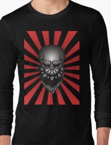 Skull In Crime Long Sleeve T-Shirt