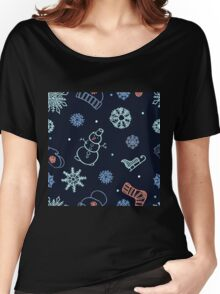 Beautiful winter seamless ornament  Women's Relaxed Fit T-Shirt