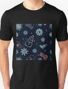 Beautiful winter seamless ornament  Unisex T-Shirt