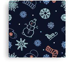 Beautiful winter seamless ornament  Canvas Print