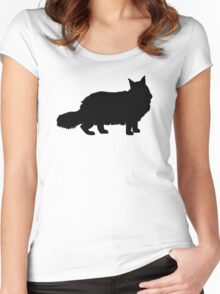 Maine Coon Cat Women's Fitted Scoop T-Shirt