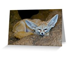 Gimme a minute while I take the weight off my ears... Greeting Card