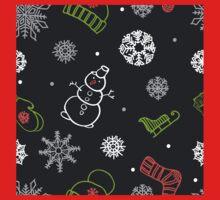 Beautiful winter seamless ornament for christmas winter design Kids Tee