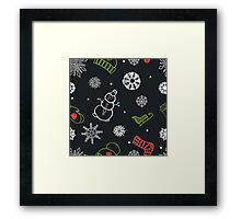 Beautiful winter seamless ornament for christmas winter design Framed Print
