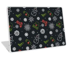 Beautiful winter seamless ornament for christmas winter design Laptop Skin