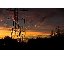 Telephone Lines Photographic Print