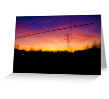 Telephone Lines Greeting Card