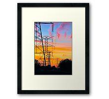 Telephone Lines Framed Print
