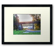 Trailer By The River Framed Print
