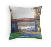 Trailer By The River Throw Pillow