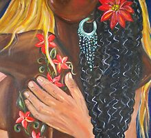 """Forever Yours"" - Detail - Interracial Lovers Series by Yesi Casanova"