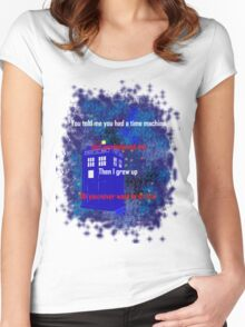 Doctor Who quote - Never want to grow up Women's Fitted Scoop T-Shirt