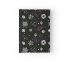 Beautiful winter seamless ornament  Hardcover Journal