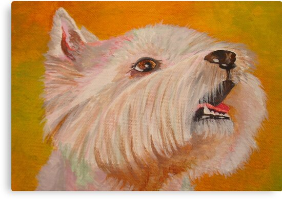 Westhighland WhiteTerrier Portrait by taiche