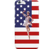 Patriotic Ballerina and American Flag iPhone Case iPhone Case/Skin